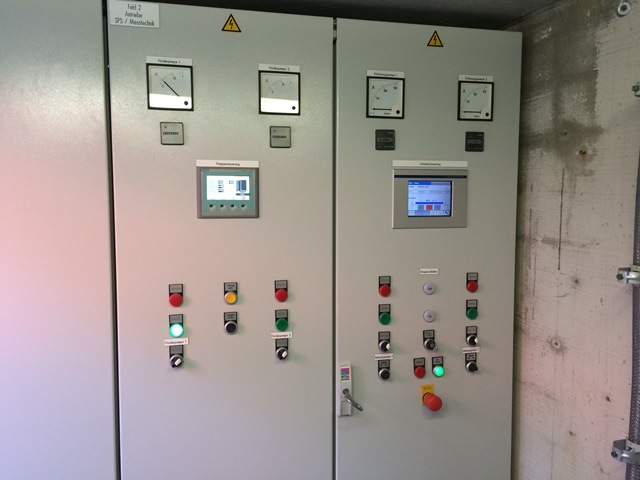 Control panel of BEA® (ATEX) integrated in existing control cabinet