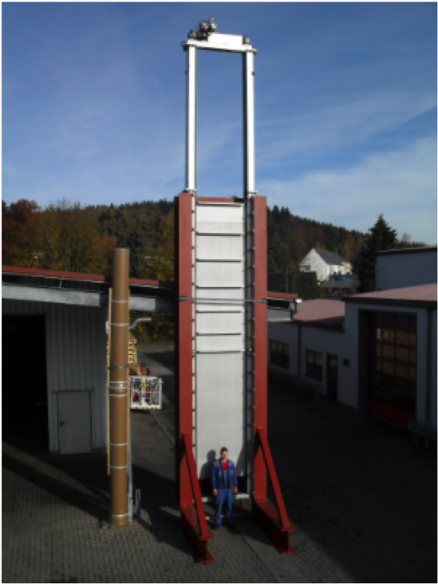 Double-plate-penstock 1.40 m x 6.50 m, Overall heigth 11,50 m