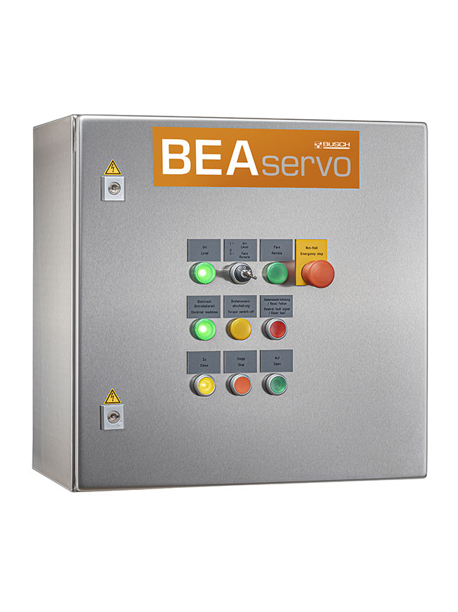 Control cabinet - with servo converter, touch panel, heating, integrated local operation and possible connection to a control system