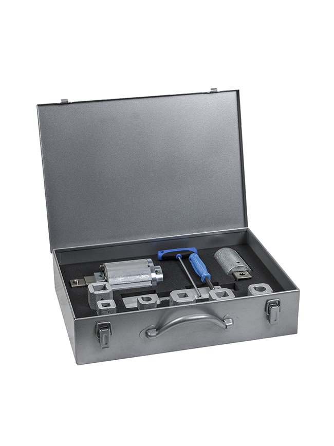 MOBITORQ® 230 coupling sleeves in transport case
