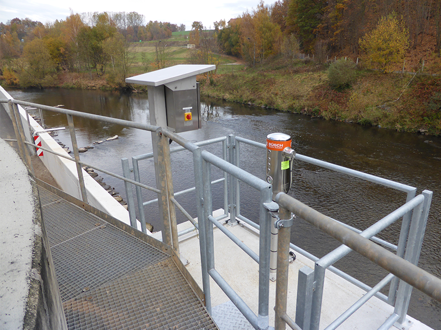 BEA® actuating a XL4 for flood protection (Penig, Saxony, Germany)