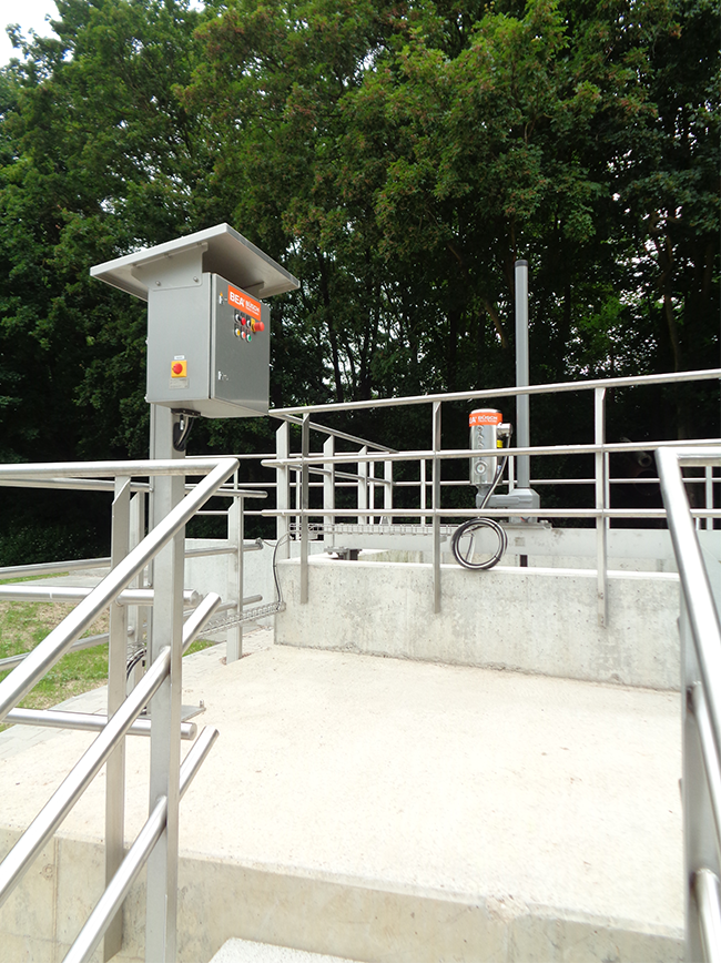 BEA® actuating a XL3-LT in sewage treatment plant (Mannheim, Germany)