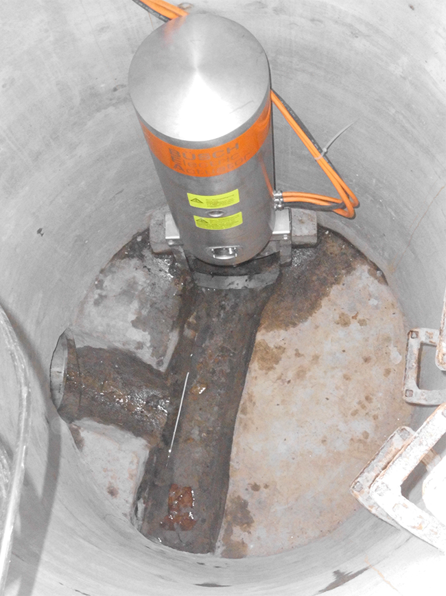 BEA® (ATEX) on CP4-RS DN200 in concrete chamber (Roding, Germany)