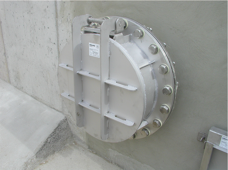 flap valve DN500 for flange mounting